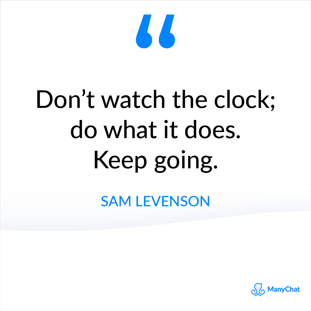 Short inspirational quote by Sam Levenson