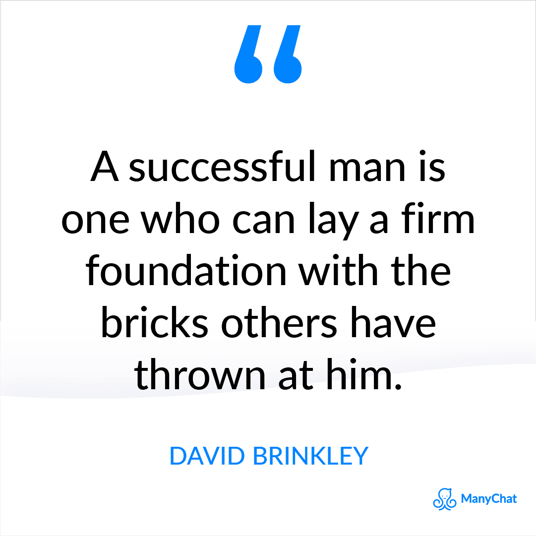 Inspirational Quote about Life and Struggles by David Brinkley