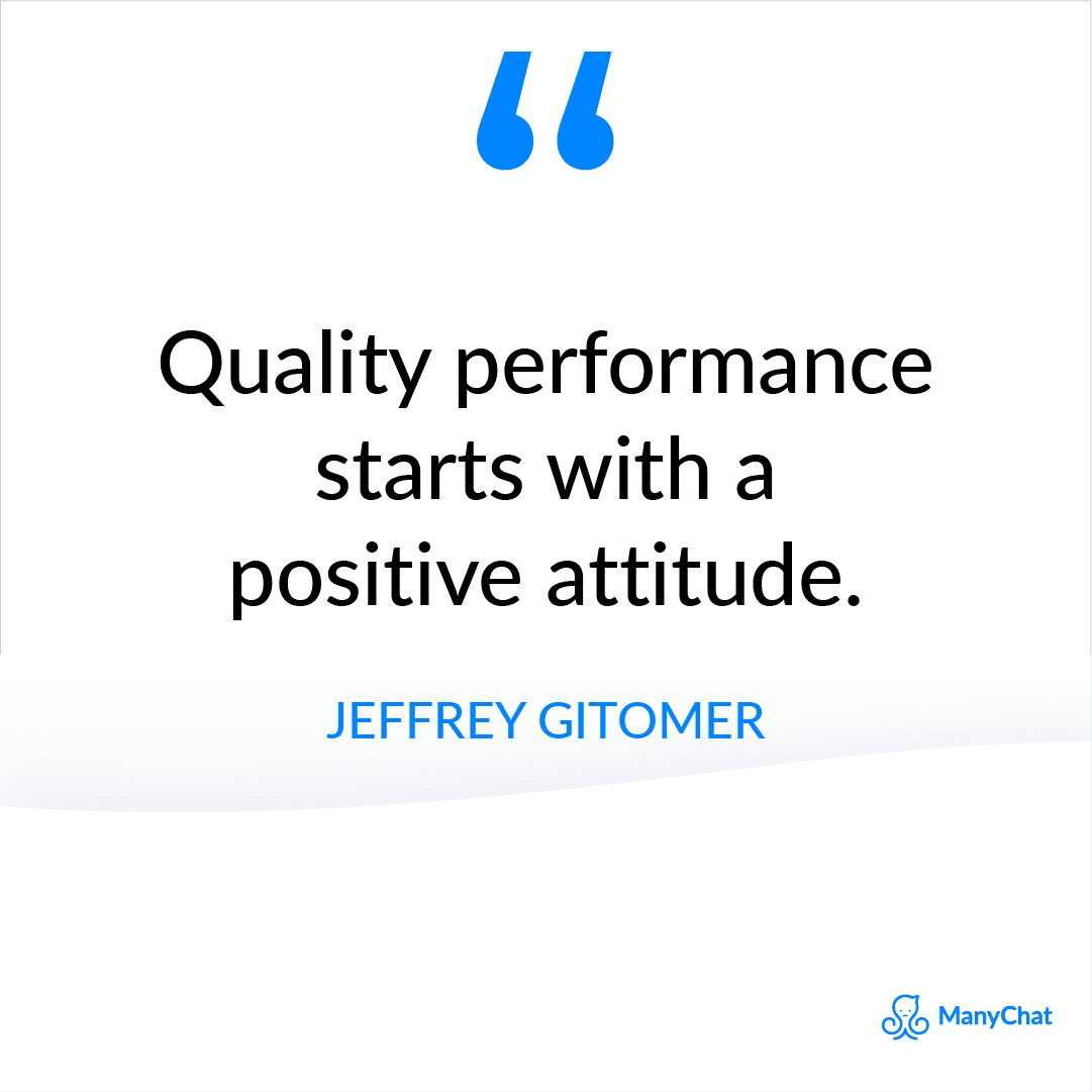 Positivity Sales Quote from Jeffrey Gitomer