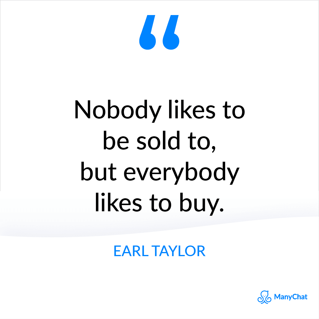 Motivational Sales Quote from Earl Taylor