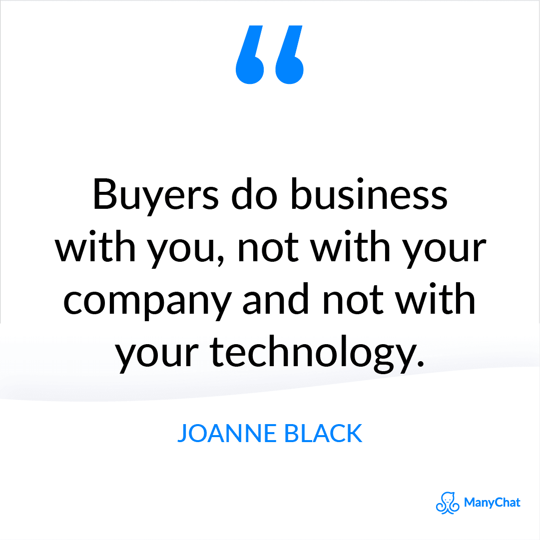 Motivational Sales Process Quote by Joanne Black