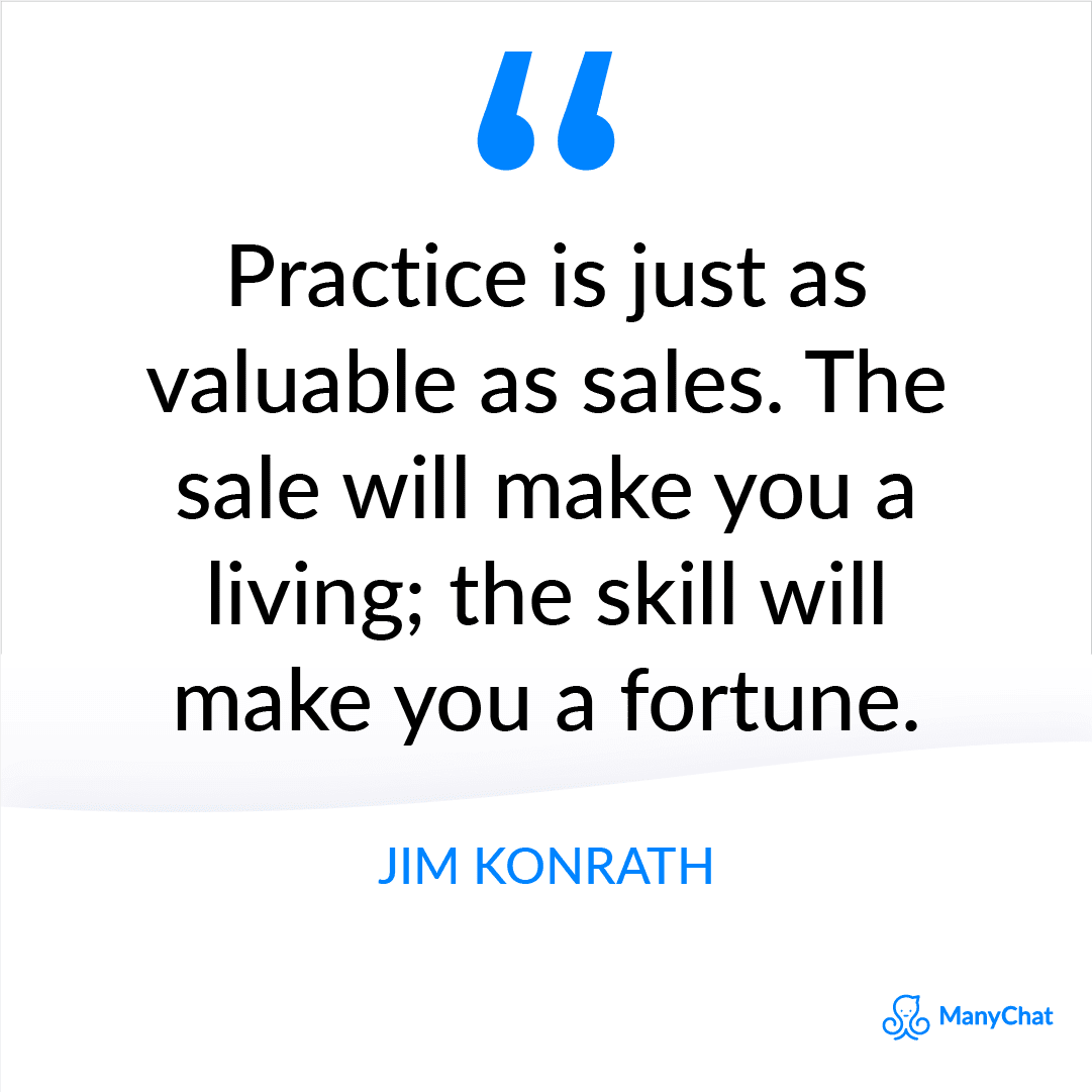 Sales Quote from Jim Konrath